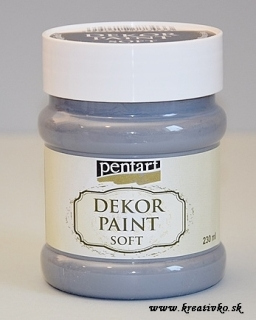 Decor Paint Soft 230 ml - grafitová sivá