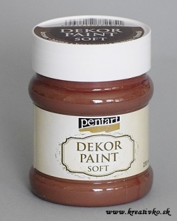 Decor Paint Soft 230 ml - hnedá